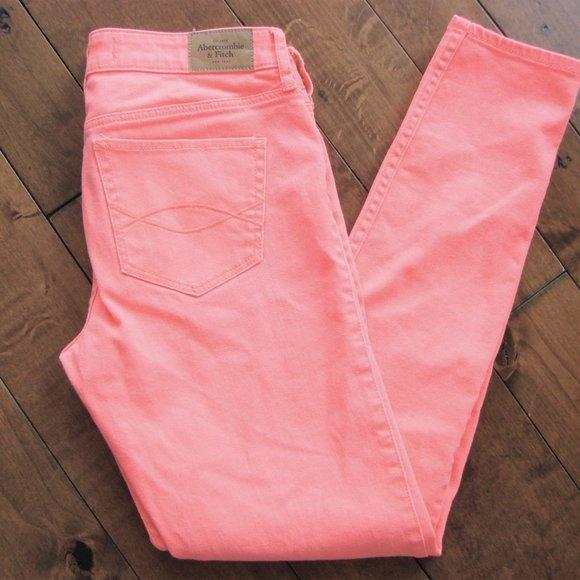 Abercrombie & Fitch Orange Skinny Denim Jeans